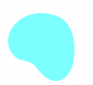 Want To Discuss A Project? Odd Shape Cyan Blue