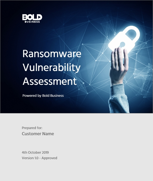 ransomware vulnerability 152 point assessment by bold business